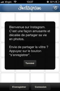 Bienvenue sur Instagram