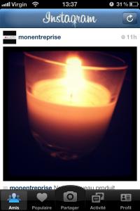 Publication sur Instagram
