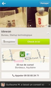 Foursquare commerçants