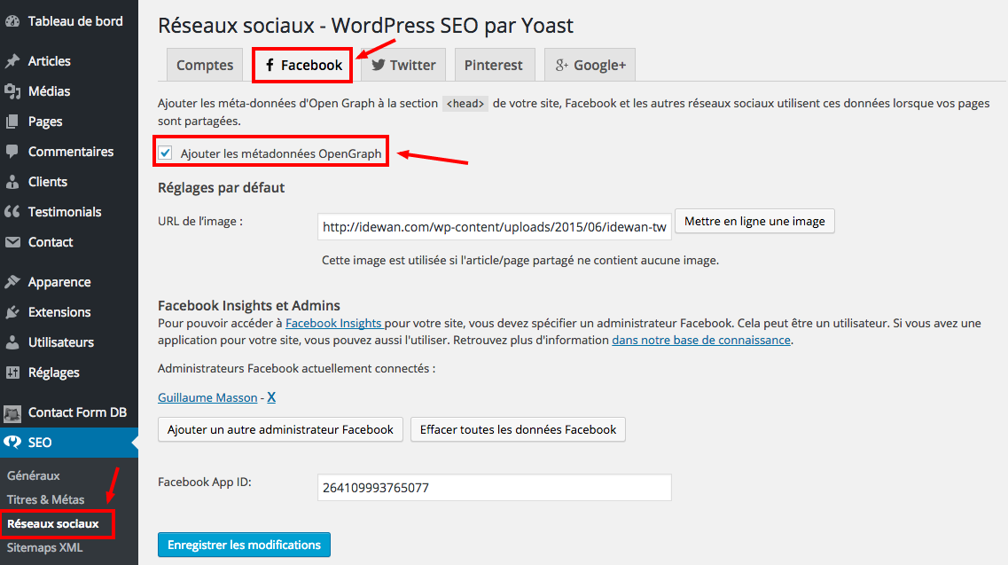 Facebook Wordpress SEO by Yoast